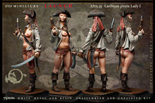 Caribean pirate Lady I 75mm 1 Figur El Viejo Dragon Miniaturas Pin Pup AS75.35