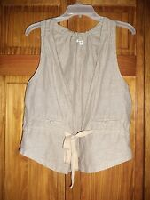 AMERICAN EAGLE OUTFITTERS grey/beige vest size xs/s petite