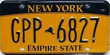 NEW York License Plate, targhe ORIGINALE con segni di usura marcato