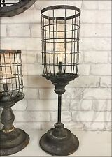 New LED Lamp Lantern Holder Style Garden Antique French Light Vintage Metal Wire