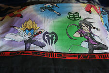 Bakugan Battle Brawlers Twin Top Flat Sheet Fabric Anime 2009 Spin Master Sega
