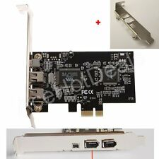 PCI-E Express FireWire 1394a IEEE1394 Controller Card w/ Low Profile Bracket