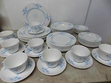 Spode Blanche de China Bone China Geisha Blue 56 pc Dinnerware Set England