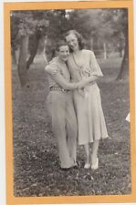 Real Photo Postcard RPPC - Two Affectionate Women Possible Lesbian Interest