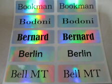 200 Hologram Silver Laser Personalized Waterproof Name Stickers Customized Label