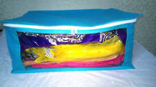 ( 12 PC )Oneside Clear Plastic Clothes Sari Saree Garment Storage,cover Box,Bag.