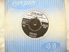 DUANE EDDY REBEL WALK / BECAUSE THEY'RE YOUNG ex great copy...45rpm pop / single