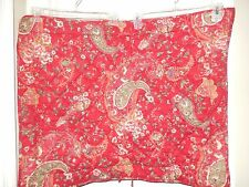 Pottery Barn ANIBEL Red Floral PAISLEY 1 Standard Quilted Sham