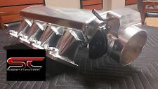 LOW 102mm LS1 LS2 SHEET METAL INTAKE FABRICATED TIG WELDED W/TB and fuel RAILs