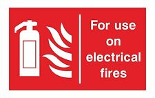 1x FOR USE ON ELECTRICAL FIRES Safety Sticker for Fire Truck Bumper Home Store