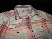 Tommy Bahama Camp Shirt Western Styling Melon Sorbet New Large L TD313793