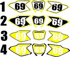 2008-2015 Suzuki RMZ450 RMZ 450 RM-Z Number Plates Side Panels Graphics Decal