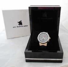 Vintage De Haviland Automatic watch 17 Jewels 41mm Dial Black Rubber Band