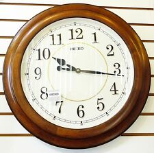 "SEIKO LARGE 22""  GALLERY STYLE OAK WALL CLOCK  QXA639BLH"