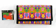 New w/Tags Vintage Mickey Mouse Unlimited Disney Warhol  Print Velcro Wallet