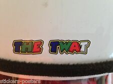 VALENTINO ROSSI  THE TW@ X 2 STICKERS 30mm wide tw*t SMALL helmet HARD HAT