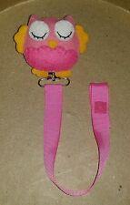 Chupetero porta chupetes pacifier cinta ribbon adorno fieltro búho  diy bebés