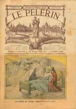 Death Saint Joseph père de Jéesus Dessin de Carrier 1905 ILLUSTRATION