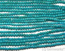 "SLEEPING BEAUTY TURQUOISE Blue 16"" Strand 2-2.5mm Round Beads /S7"