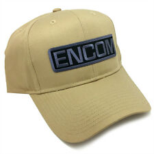 Tron Movie ENCOM Embroidered Sci fi Patch Khaki Snapback Baseball Cap Hat