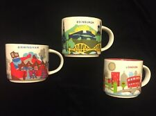 Starbucks Birmingham Edinburgh London Mug Set YAH Coffee Cup You Are Here UK New