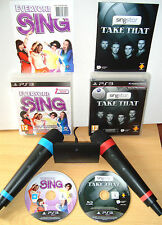 Like Lips Singstar Take That Everyone Sing PS3 2 Wireless Mics Karaoke Sing Game