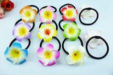 50pcs Foam Hawaiian Plumeria flower Frangipani Flower elastic bridal hair band