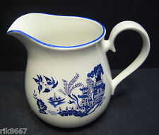 Willow Pattern English Fine Bone China 1 Pint Milk Jug By Milton China