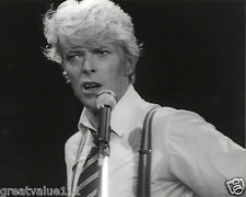DAVID BOWIE UNIQUE B&W PHOTO 1983 UNRELEASED CLOSE UP IMAGE HUGE 10 INCH RARE