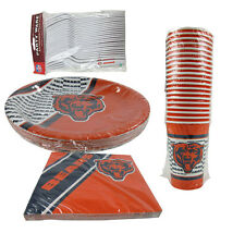 New NFL Chicago Bears 84 Paper Plates Cups Forks Napkins Party Supplies