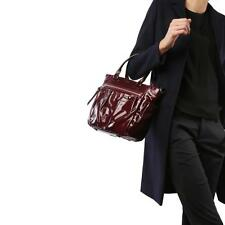 MZ WALLACE SMALL MAYFAIR TOTE In Currant Gloss - NWT