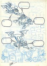 MICKEY & GOOFY LAYOUT COMIC PAGE SIGNED JOSEP FERRER MAGAZINE ANDERS & CO ART.