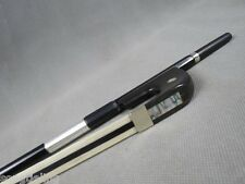 Strong German-style Carbon Fiber double bass bow,white+black+white horse hairs
