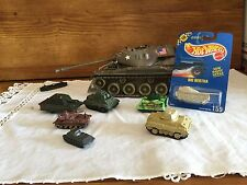 Vintage Lot of 7 Army Tank Germany USA Hot Wheels  Majorette Konigstiger