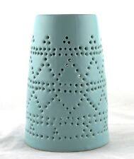 Blue Ceramic Tower Oil Warmer Earthbound Trading NEW tealight candle modern tart