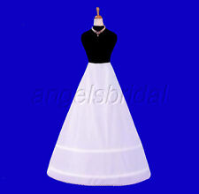 2 HOOP BONE BRIDAL WEDDING GOWN DRESS PETTICOAT CRINOLINE A-LINE SKIRT SLIP NEW