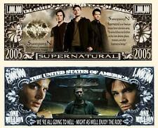 SUPERNATURAL Série TV. Million Dollar USA . Billet de commémoration / Collection