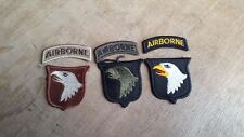 X 3 US 101st AIRBORNE DIVISION PATCHES