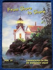 From Shore to Shore 21 Paint Pattern Book Dorothy Dent Landscapes Scene - Unused