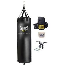 Everlast 70 lb Heavy Bag MMA Kit Gloves Handwraps Boxing Punching Training New