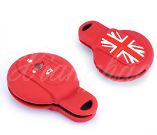 RED UNION JACK SILICONE PROTECTIVE CASE COVER FOR MINI COOPER F55 F56 KEY FOB
