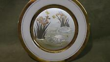 Westland Company Large Decorative Porcelain Plate swans pond Flowers Birds