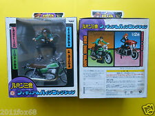 rare box lupin & model bike figure pvc lupin III green bike torutoru catcher dx