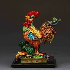 Chinese Cloisonne Procelain handwork Cock statues G443