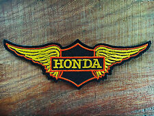 HONDA Wing Motorcycles Rider Biker Patch Iron on Embroidered Jacket Logo  Ma