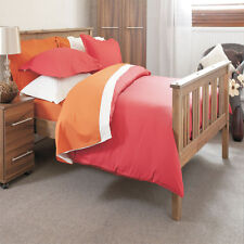 200 Thread Count Flat Sheet Polycotton Single Bed Size in Red 178cm x 269cm