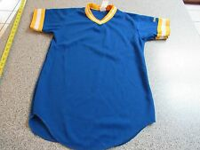 NWT MENS WILSON ATHLETIC MILWAUKEE BREWERS BLANK JERSEY SHIRT SIZE YOUTH MEDIUM