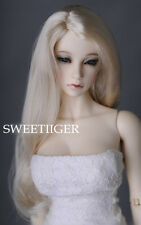 "8-9"" 1/3 BJD Hair IP SD DD doll wig Super Dollfie blonde long straight M-mohair"