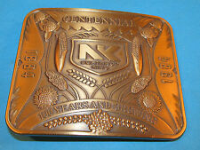 Vintage NORTHRUP KING 1884-1984 100 years Centennial Belt Buckle Seed & Feed Co.