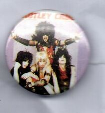 MOTLEY CRUE BUTTON BADGE American Glam Metal Band - Theatre Of Pain 25mm Pin
